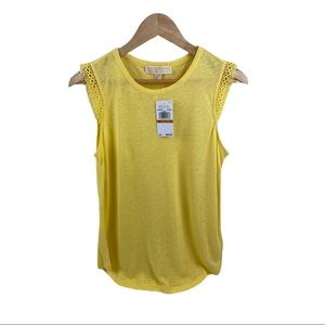 Michael Kors Yellow Tank Top